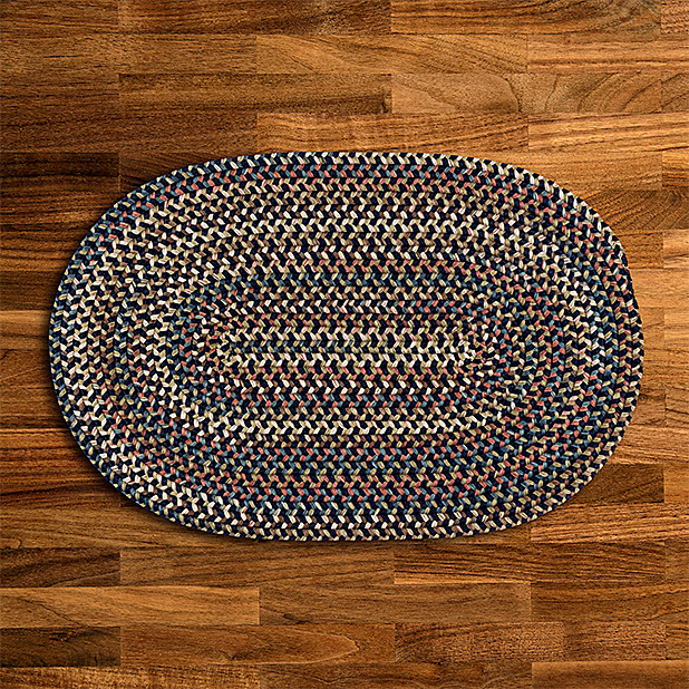 Cedar Cove Navy Blue Braided Rug By Colonial Mills Many