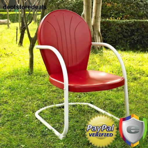 Retro vintage metal patio lawn furniture outdoor spring base chair steel garden ebay Vintage metal garden furniture