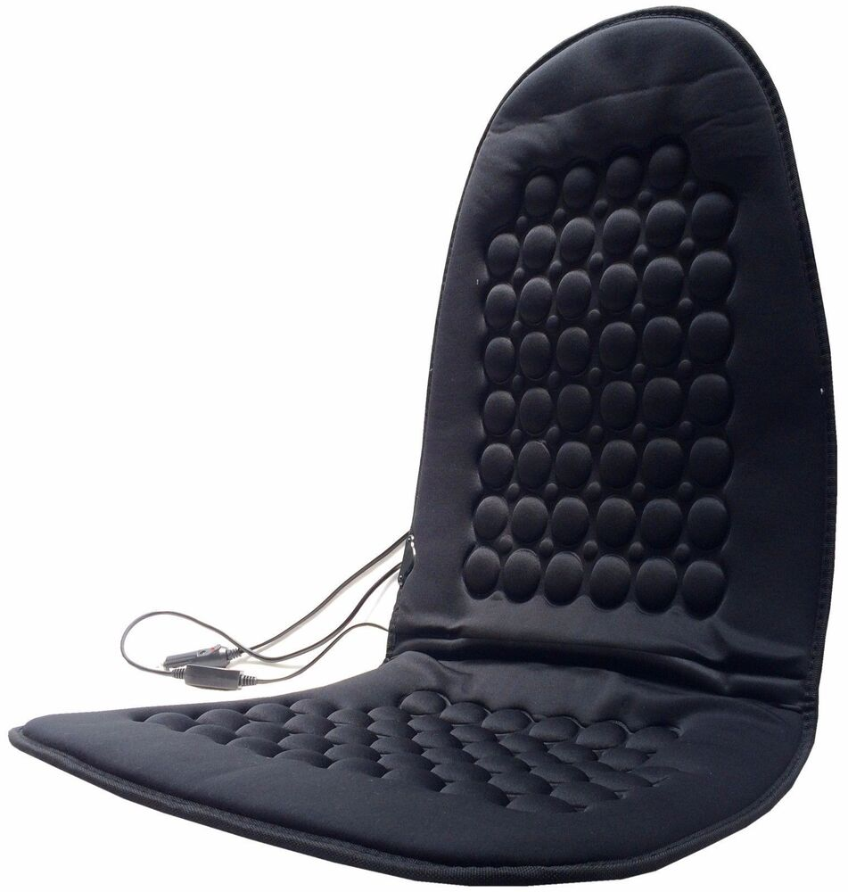 black heated seat cushion seat warmer therapeutic magnets cushion ebay. Black Bedroom Furniture Sets. Home Design Ideas
