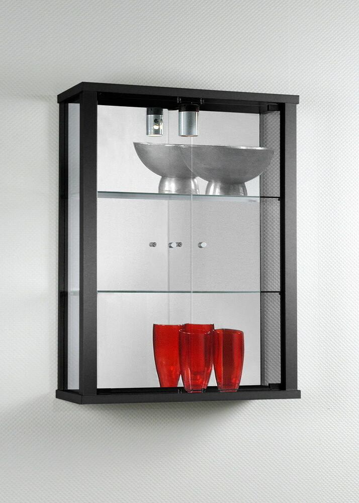 Double Wallmounted Glass Display Cabinets Ebay
