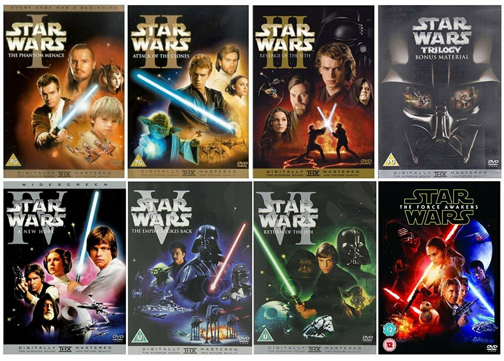 Star Wars Complete Saga DVD Set Prequel & Original Trilogy ...