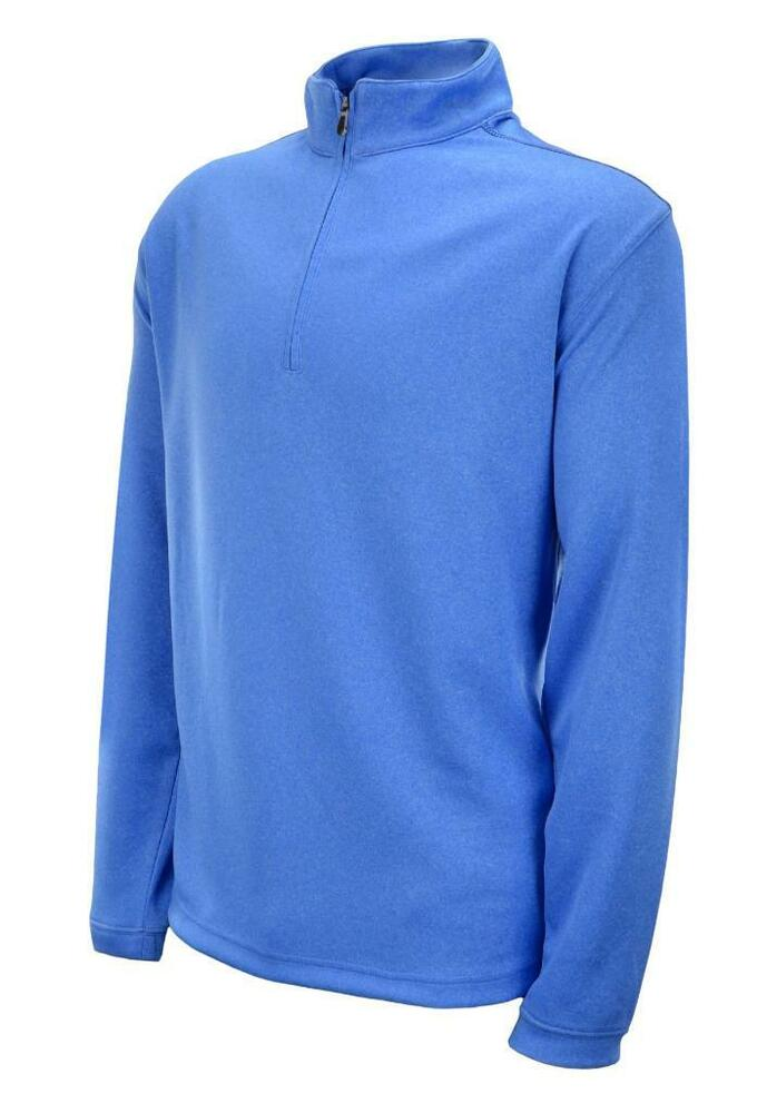 Pebble beach men 39 s performance pullover 1 4 zip jacket for Mens long sleeve pullover shirts