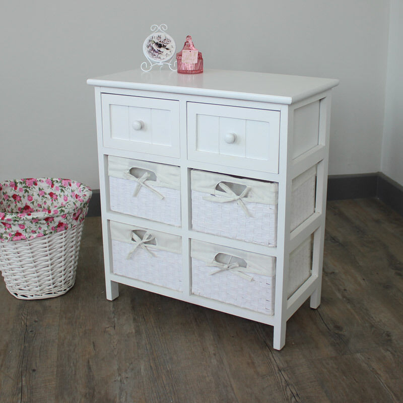 Basket Storage With Drawers Cabinets ~ White cabinet storage basket unit drawers hall bathroom