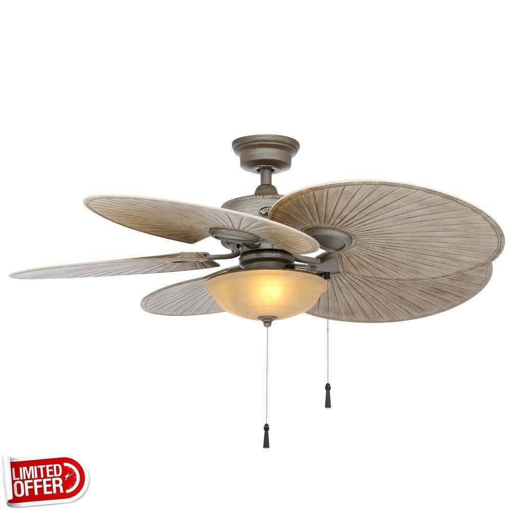 Sale hampton bay havana 48 inch outdoor cambridge silver Outdoor ceiling fan sale
