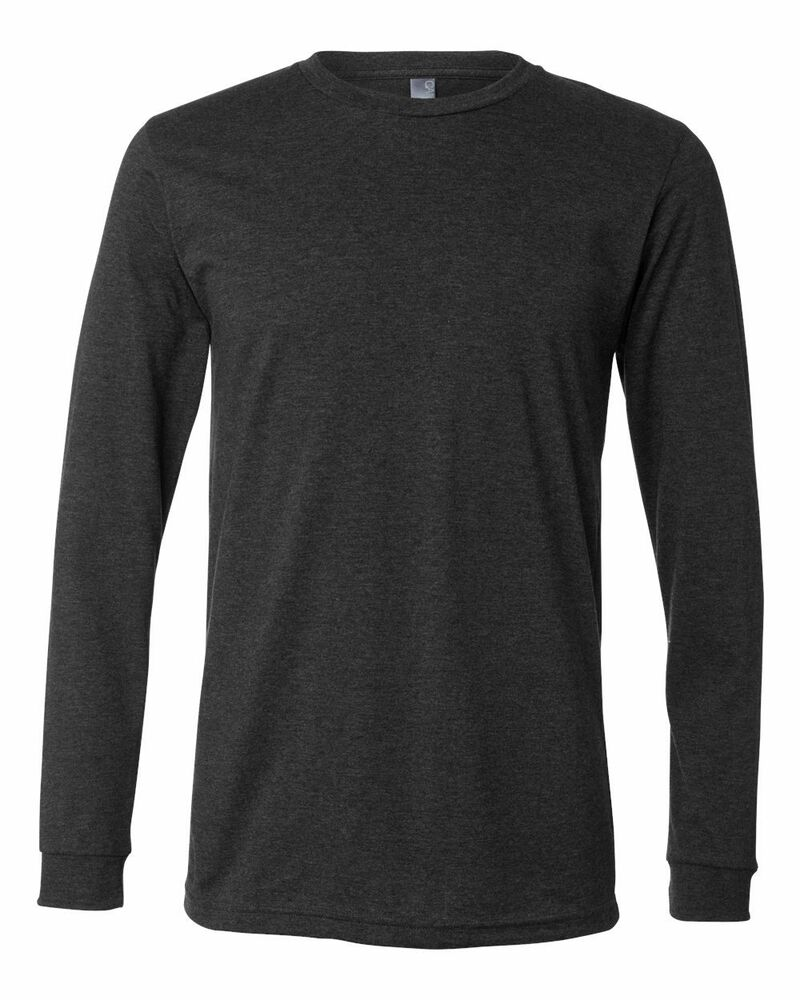 Bella canvas men 39 s long sleeve t shirt 100 cotton plain for Mens 100 cotton long sleeve t shirts