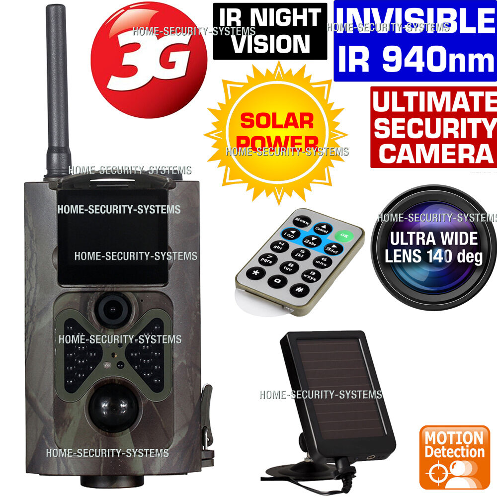 3g trail camera solar gsm mms wireless home security farm cam ir 1080p hidden ebay. Black Bedroom Furniture Sets. Home Design Ideas