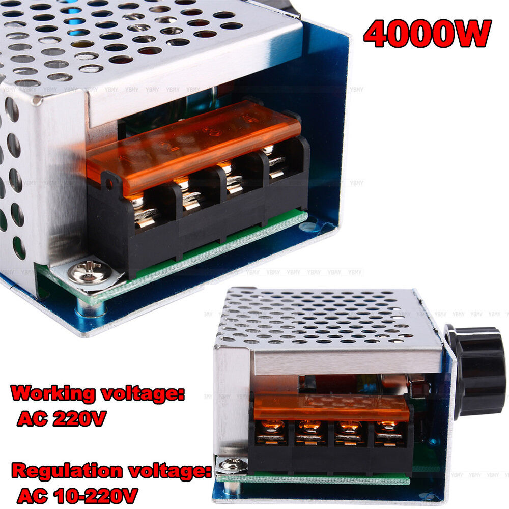 4000w Ac 220v Scr Voltage Regulator Adjust Motor Speed