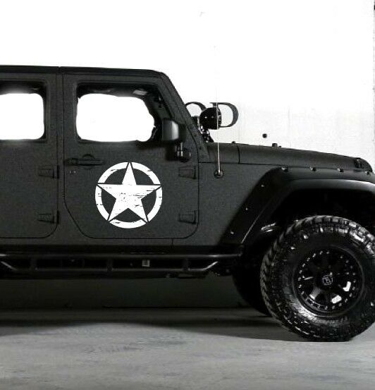 Army Style Decal Sticker For Jeep Wrangler Rubicon Star