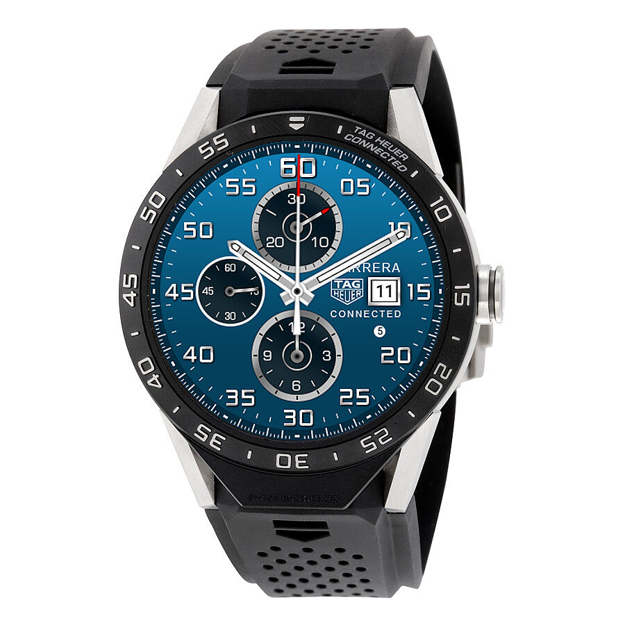 TAG HEUER CONNECTED SAR8A80.FT6045 Black 46mm Smart Watch ...