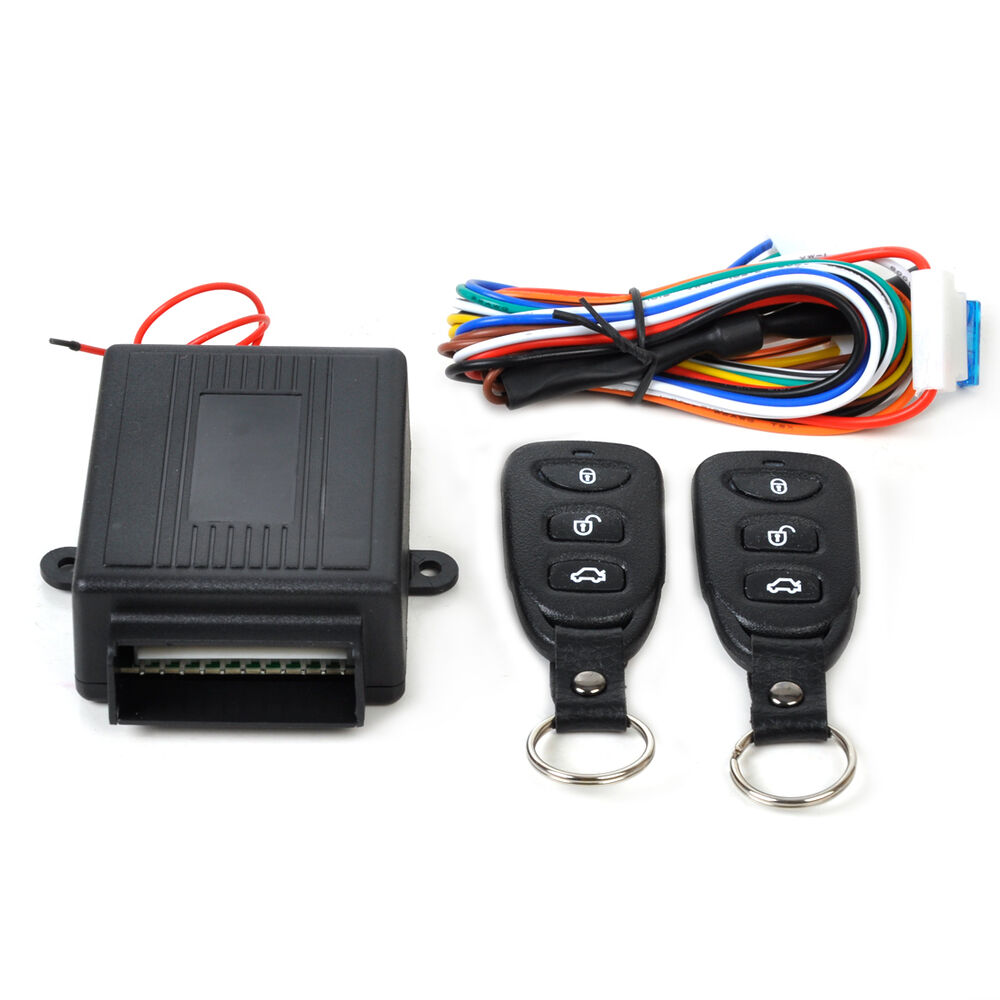 universal car keyless entry system kit remote control. Black Bedroom Furniture Sets. Home Design Ideas