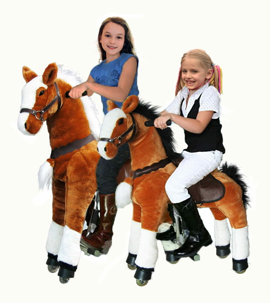 Toys For Ponies : Ufree action pony ride on toy horse quot large age