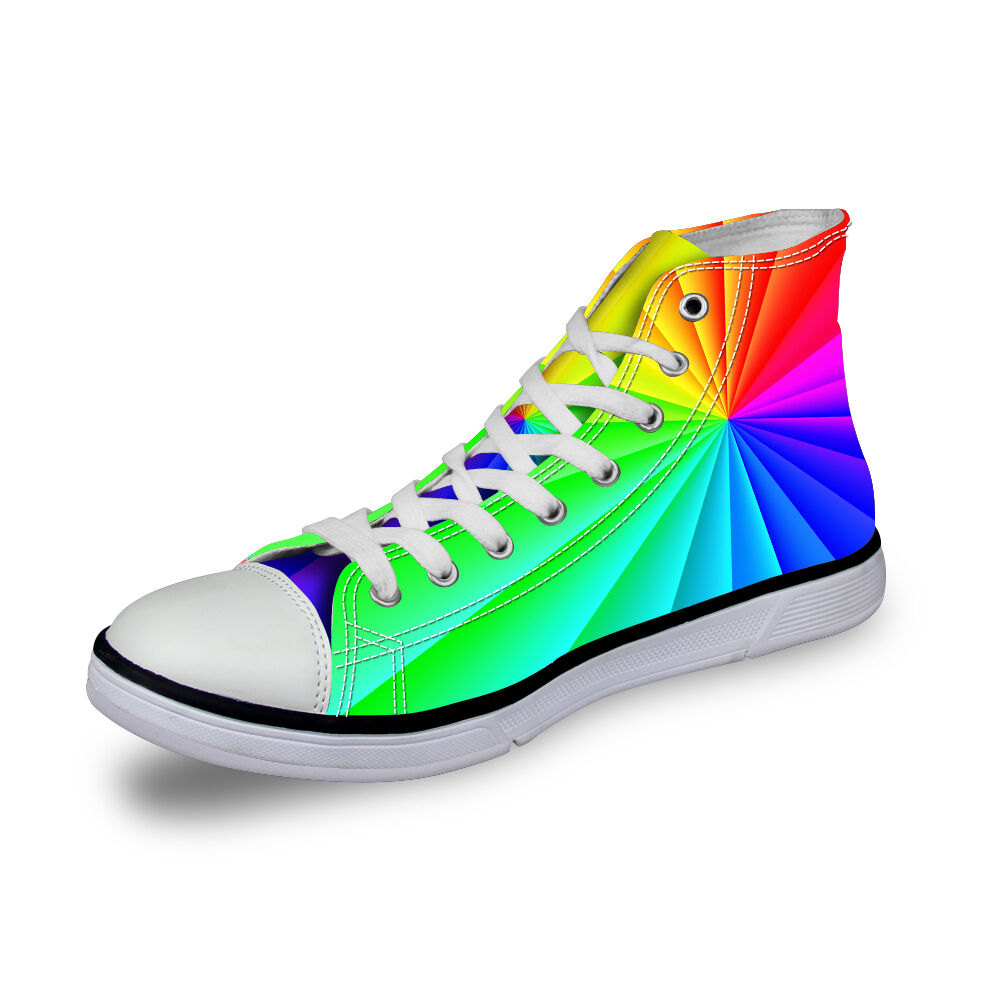 Colorful Womens Lady's Lace-up High Top Shoes Sneakers ...