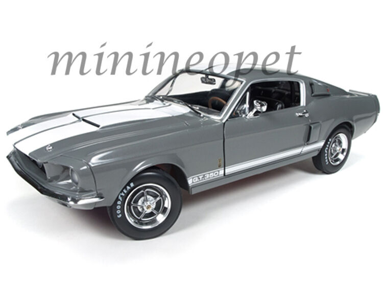 autoworld amm1060 1967 ford shelby mustang gt 350 1 18 50th anniversary gray ebay. Black Bedroom Furniture Sets. Home Design Ideas