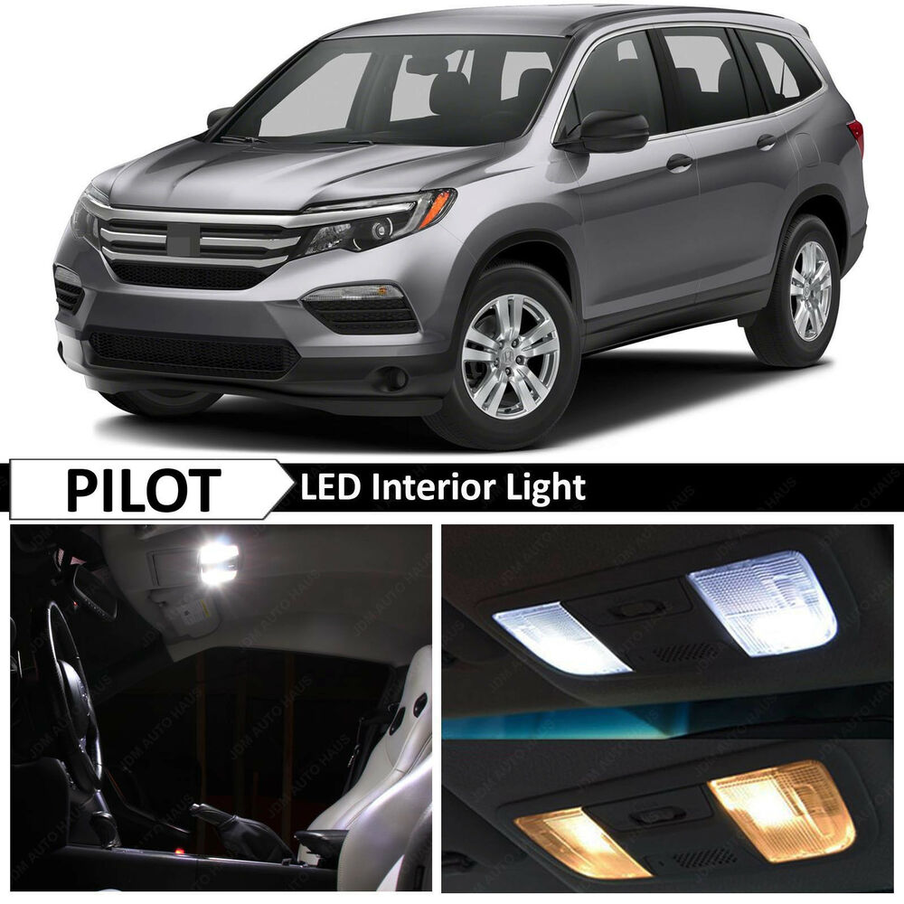 13x White LED Lights Interior Package Kit For 2016-2017