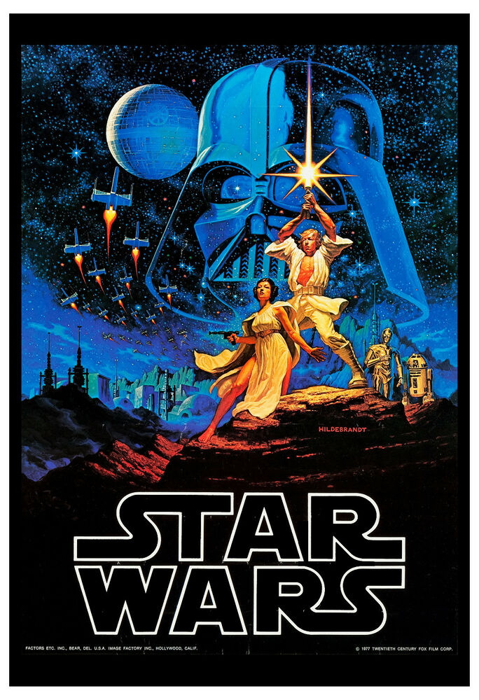 1980's Sci-Fi * Star Wars * Classic Movie Poster 1977 ...