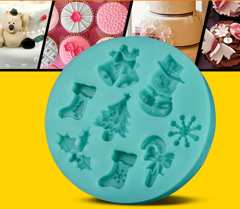 Christmas Cake Decoration Molds : DIY 3D Silicone Christmas Cake Baking Mould Chocolate ...