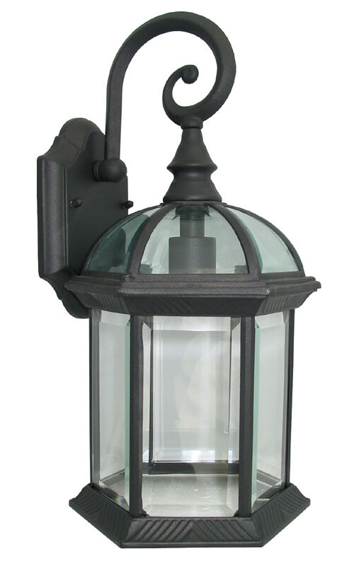 Wall Lantern Light Fixture : Outdoor Exterior Lantern Lighting Fixture Outdoor Wall Sconce Black eBay
