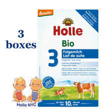 Holle Stage 3 Organic infant Formula 3 BOXES 10 month plus 01/2020, 600g