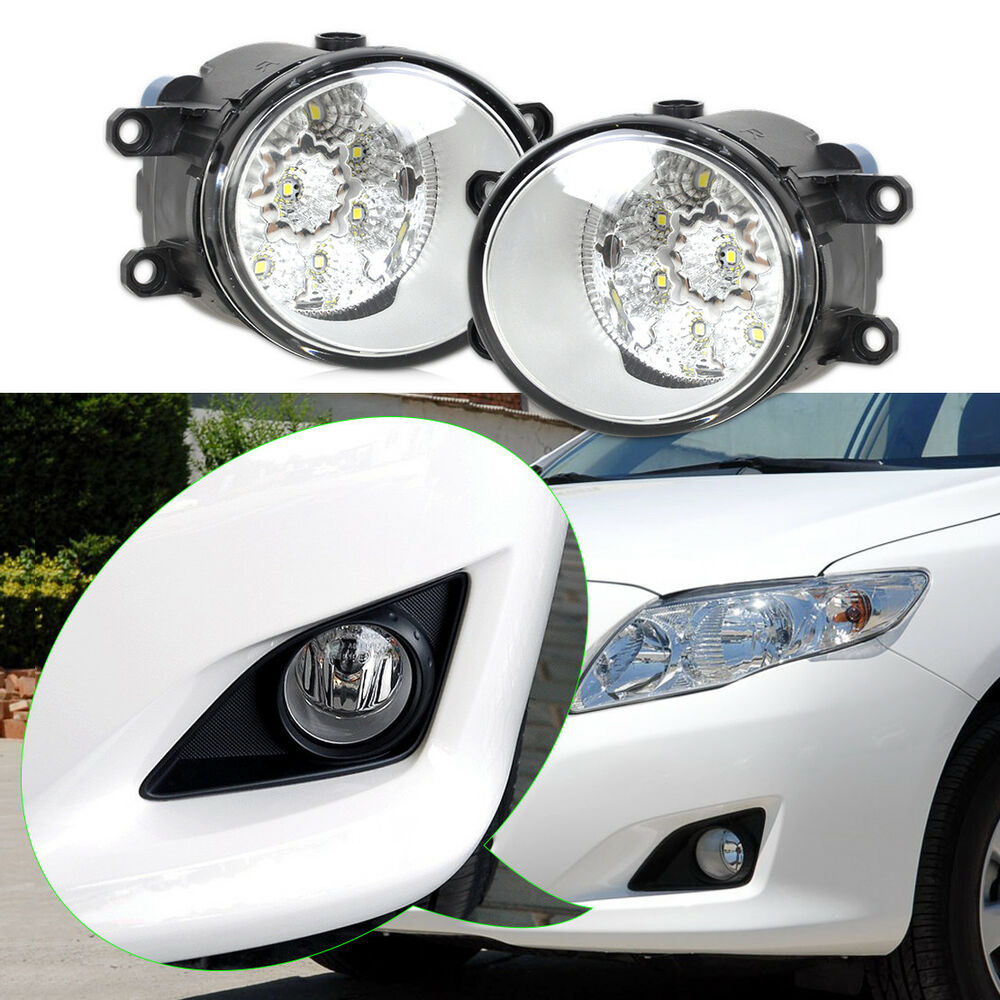 for toyota 55w 9 led fog lamp drl daytime driving lights. Black Bedroom Furniture Sets. Home Design Ideas