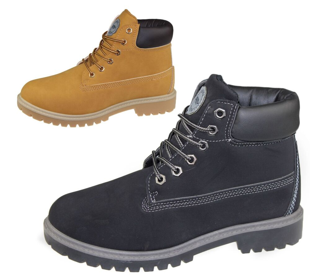 Mens Boots Winter Warm Combat Hiking Work High Top Desert