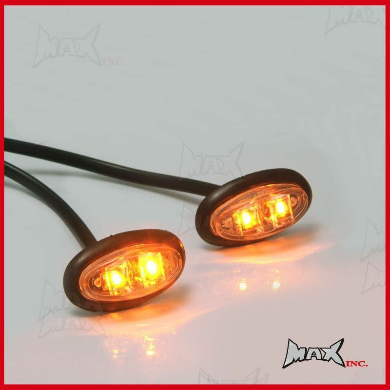 Amber Oval Turning Signal Indicator Marker Led Light