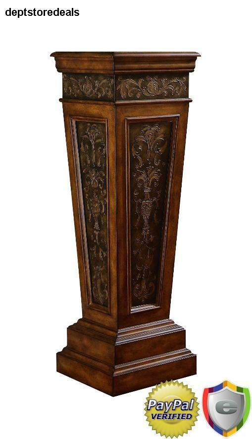 Plant Stand Pedestal Display Pillar Wood Column Trestle