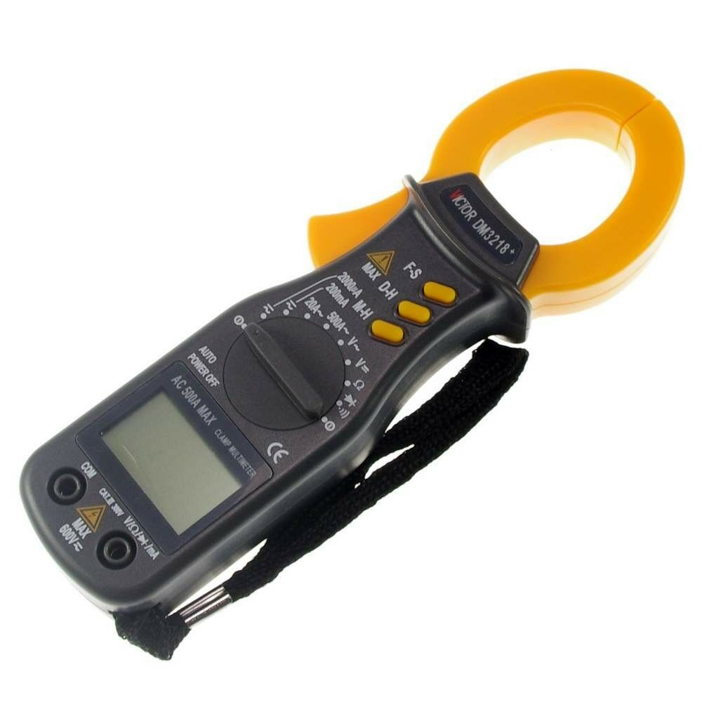 Can A Clamp Meter Measure Amps : Battery powered volt amp ohm meter digital clamp
