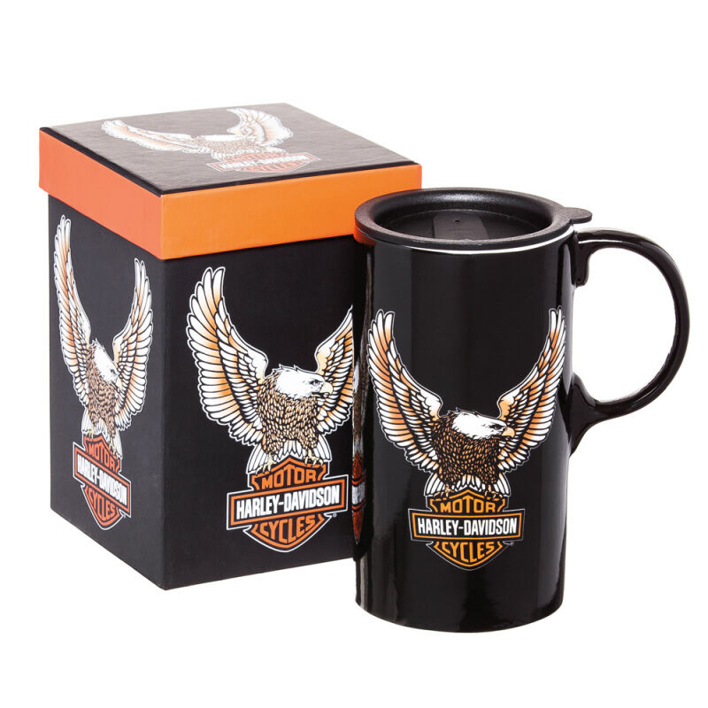 Harley Davidson Travel Coffee Cup 20oz Tall Boy Mug Boxed