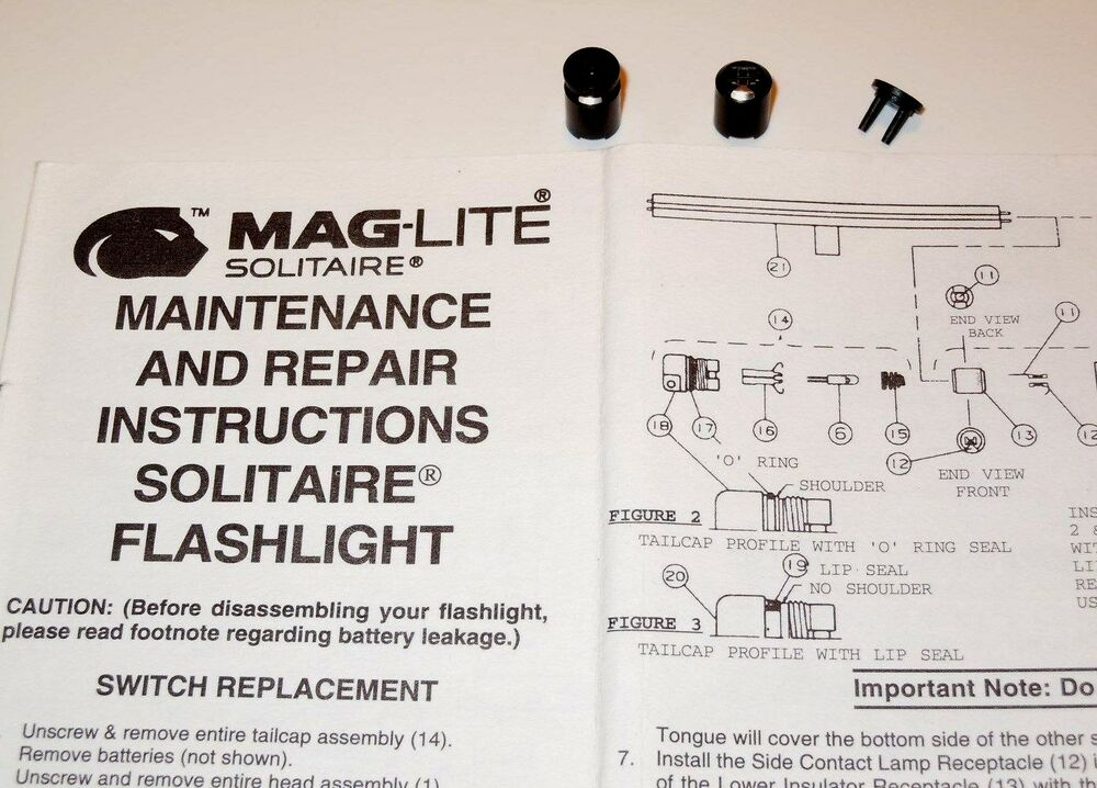 authentic aaa mini maglite solitaire switch repair. Black Bedroom Furniture Sets. Home Design Ideas