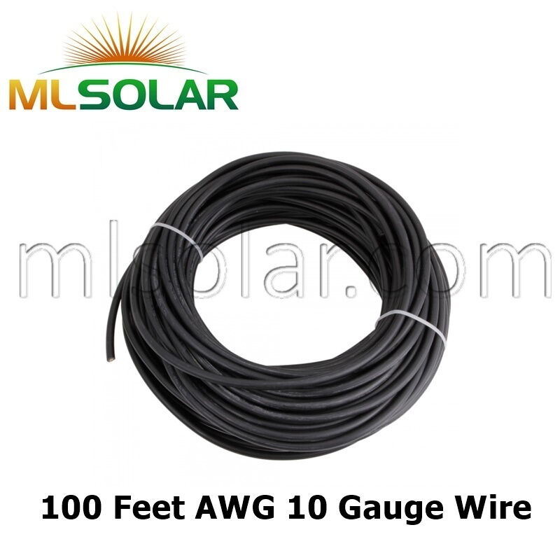 10 Awg 2000v Solar Panel Wire 100ft Sungen Cable Ul 4703