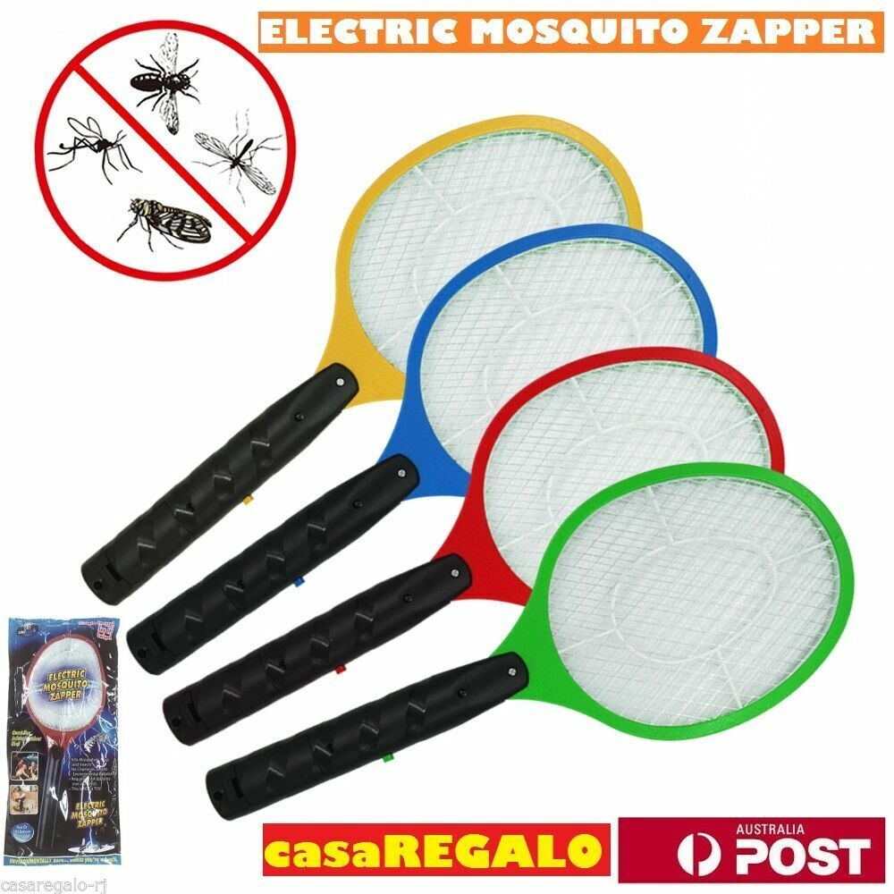 2x Bug Zapper Electric Tennis Racket Mosquito Fly Swatter Killer