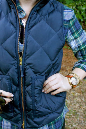 2015 New J Crew Excursion Quilted Novelty Puffer Vest Navy