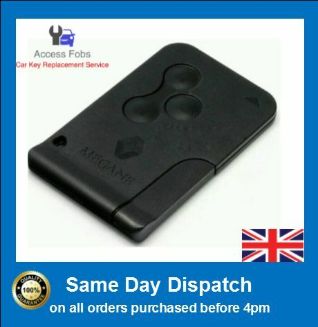 2 x new renault megane scenic clio remote key card new. Black Bedroom Furniture Sets. Home Design Ideas