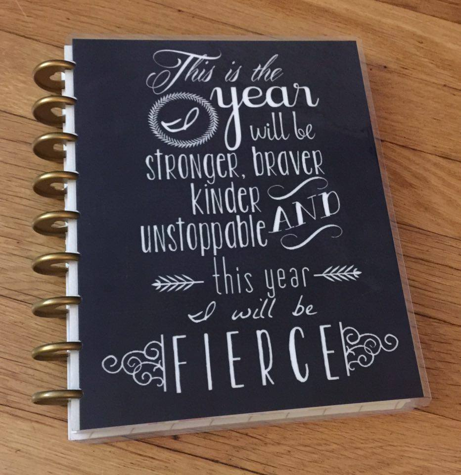 Quotes For Cover Photo: Fierce New Year Quote Front/Back Cover Set For Use W