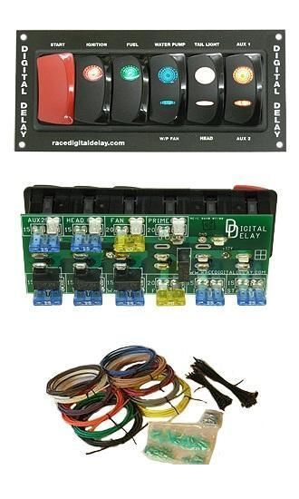Race Car Switch Panel Wiring Diagram : New digital delay drag race car racing switch panel kit
