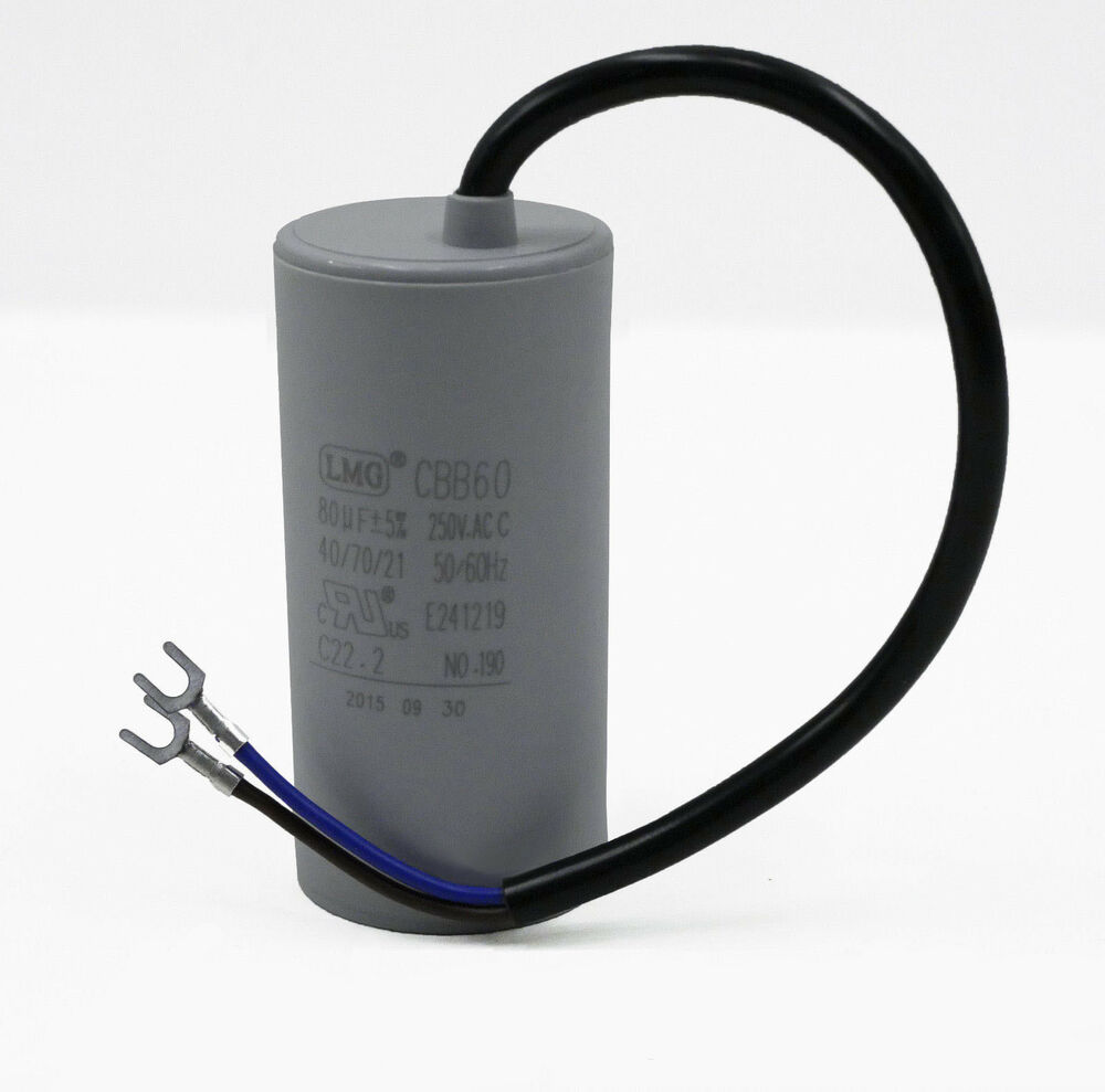 High quality 80uf mfd run capacitor 250volt motor round 50 for How to test a motor start capacitor