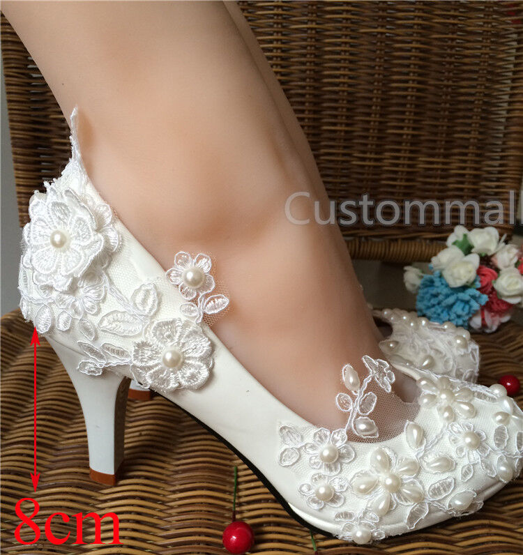 wedding shoes flats for bride wedding pearl lace flower prom bridal bridesmaid 1108