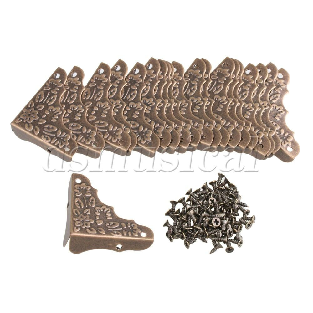 20x Bronze Iron Antique Edge Cover Protectors Corner Guards Furniture Decorative Ebay