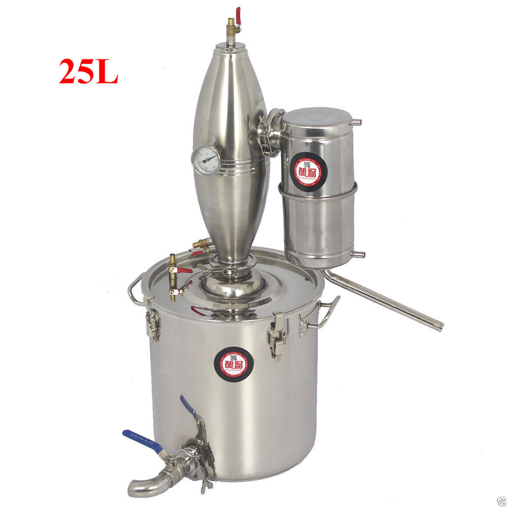 STAINLESS ALCOHOL DISTILLER HOME BREW KIT MOONSHINE STILL ...