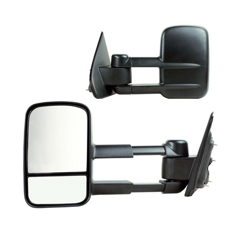 2014 2017 chevy silverado gmc sierra extendable manual towing side mirror ebay. Black Bedroom Furniture Sets. Home Design Ideas