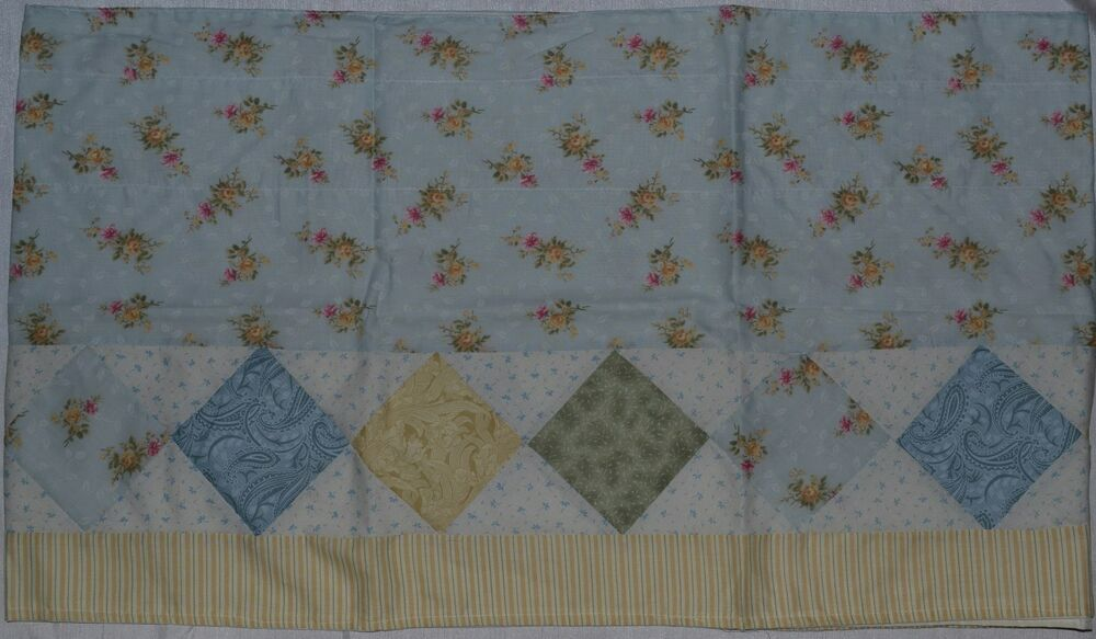 Window Valance~Patchwork Quilt~Country Calico~Blue~Ivory ...