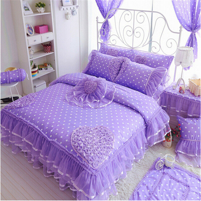 Luxury Cotton Bedding Sets Duvet Cover Sets Girls Lace