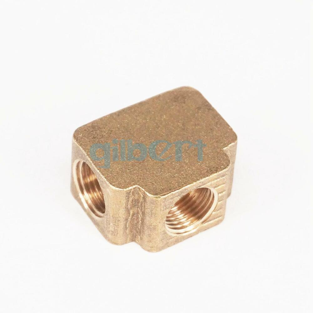 Tee ways brass pipe fittings equal female connector