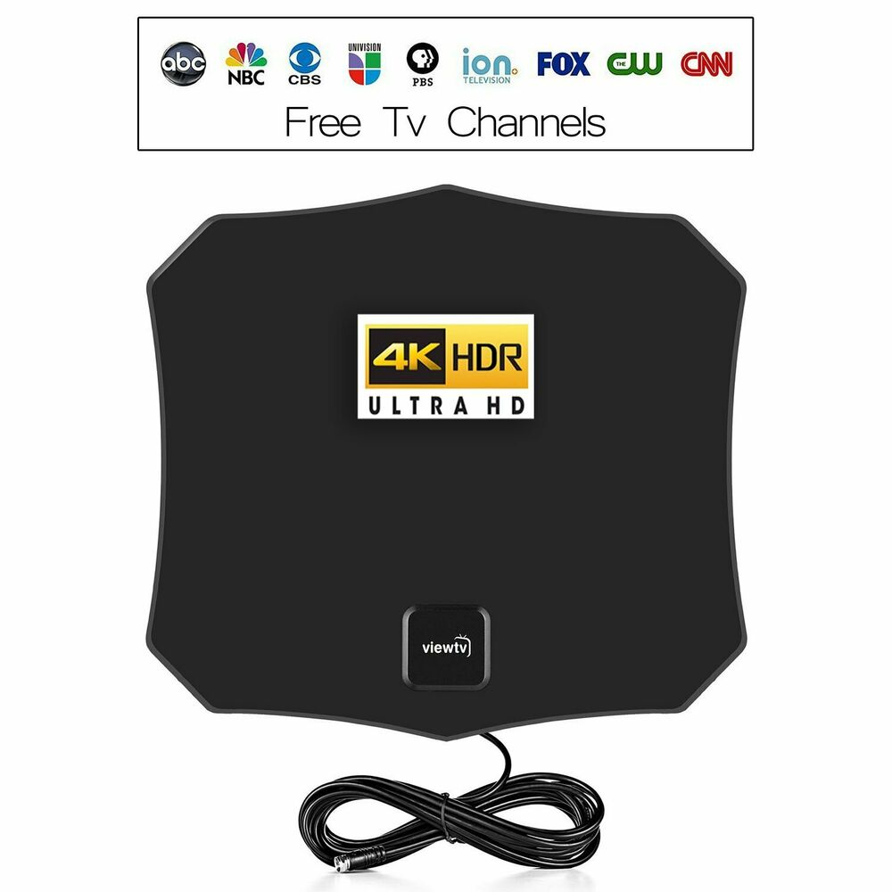 ViewTV Flat HD Digital Indoor Amplified TV Antenna With