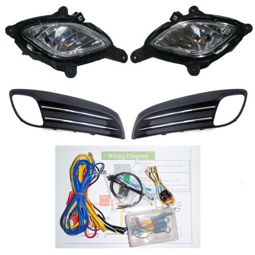 details about fog lamp light / cover wiring complete kit for 2008-2011  hyundai genesis coupe
