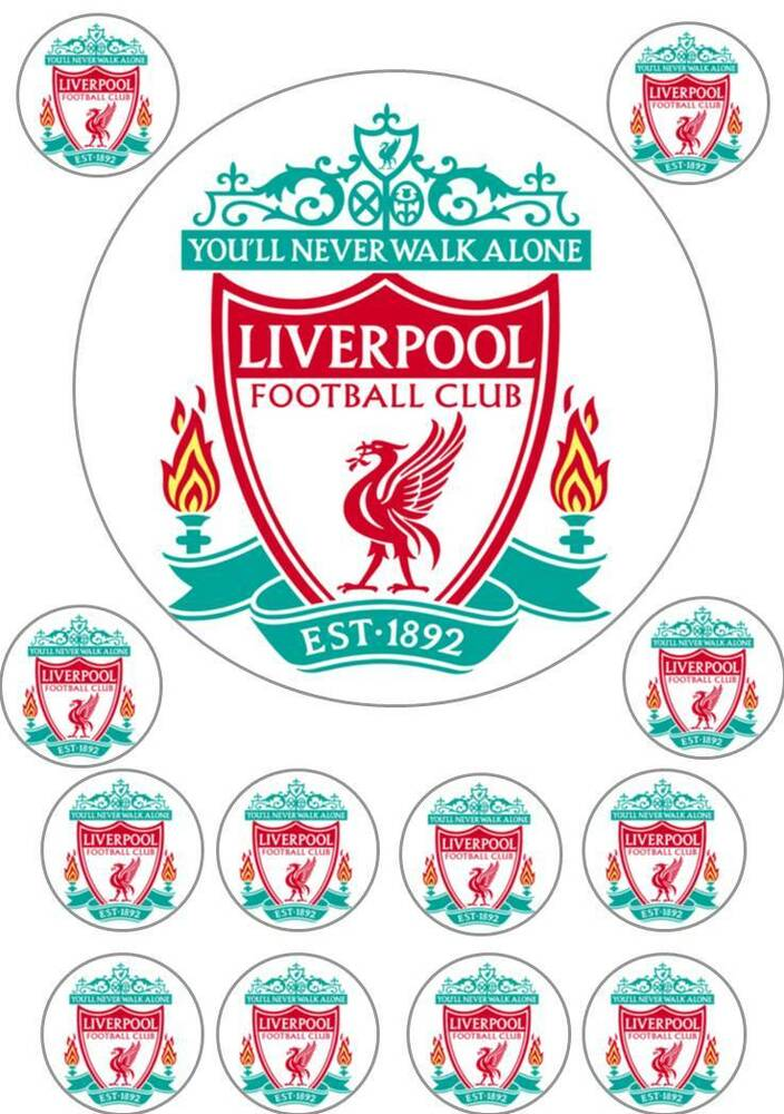 Edible Liverpool Football Cake Decorations