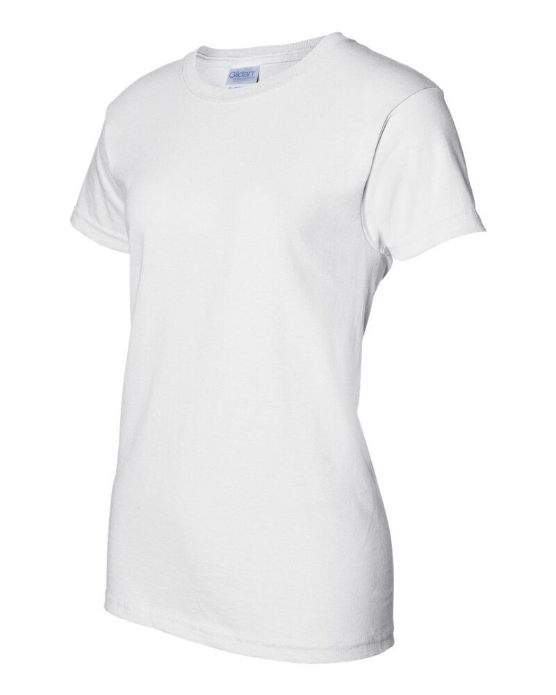 30 Gildan Ladies Heavy Cotton White T Shirt 5000l Bulk Lot