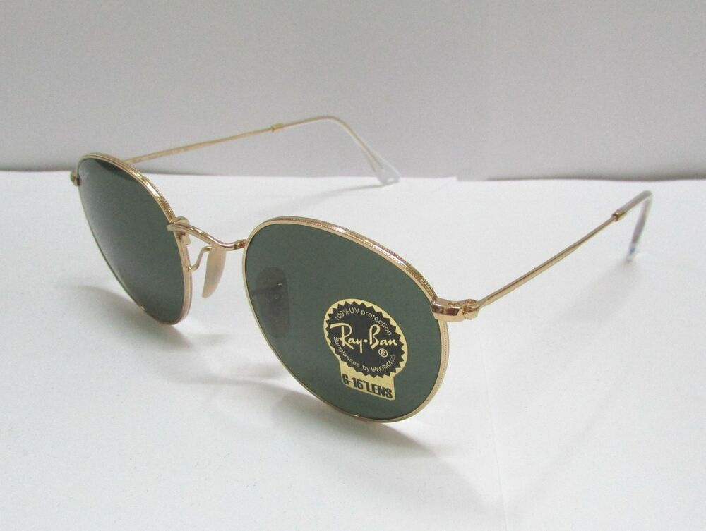 b527e4fc72 Details about Ray-Ban Sunglasses 3447 001 50 GOLD   GREEN CLASSIC G-15 LENS  ROUND UNISEX RETRO
