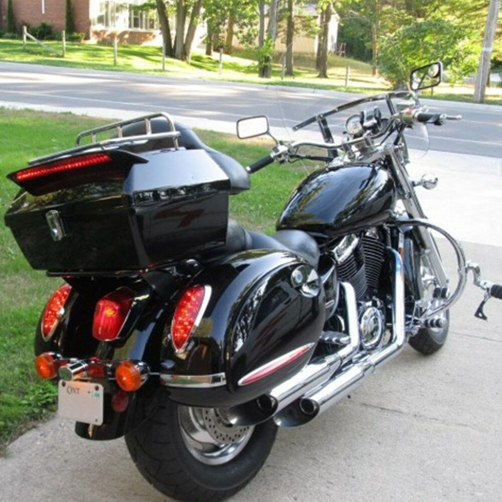 Black Motorcycle Trunk Tail Box Luggage Case Top Rack For