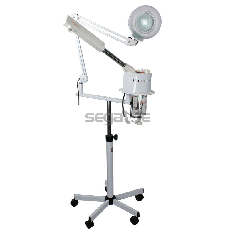 2-1 New Facial Steamer 5X Magnifying Lamp Ozone Salon Spa